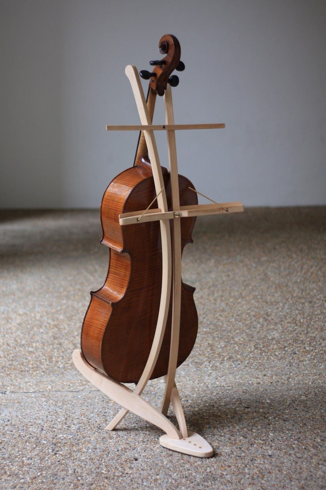 Custom Cherry Cello Stand Nwb Woodworks Wood