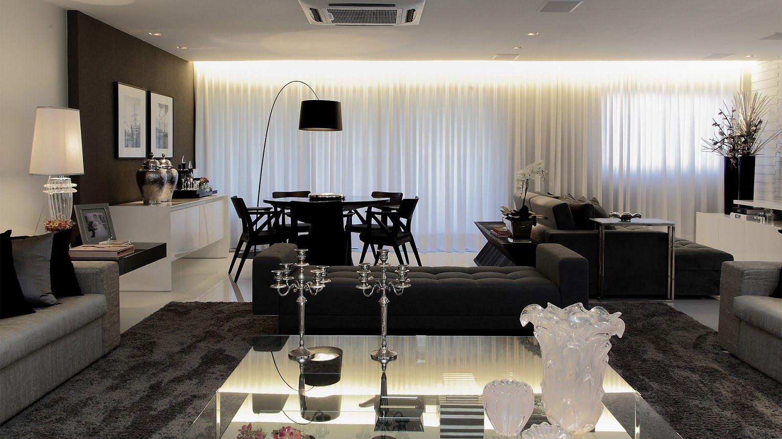 Salas estar jantar tv integradas decoracao moderna cores for Sala tv moderna
