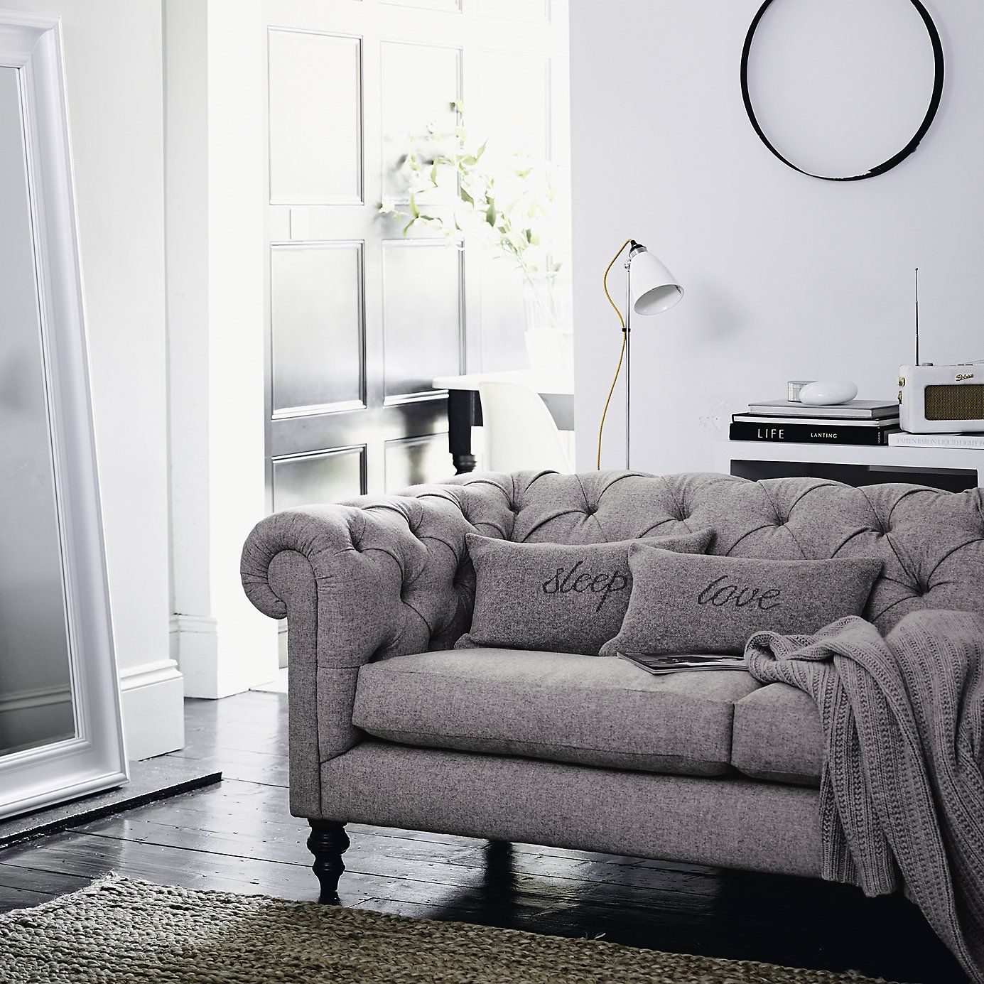 Love Cushion Cover Silver Grey From The White Company Sofa And Loveseat Set Loveseat Living Room Armchair Furniture