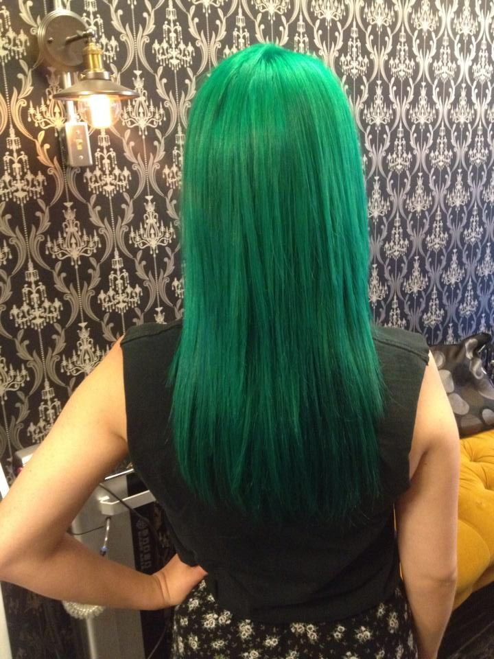 Forest Green Hair Color - Hair Colors Ideas | Green hair ...