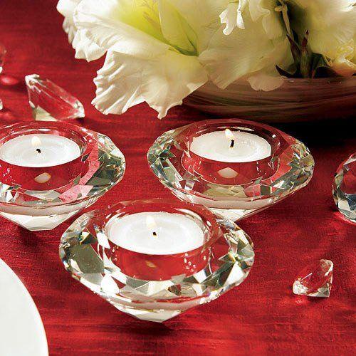 Crystal diamond tealight holders by beau coup
