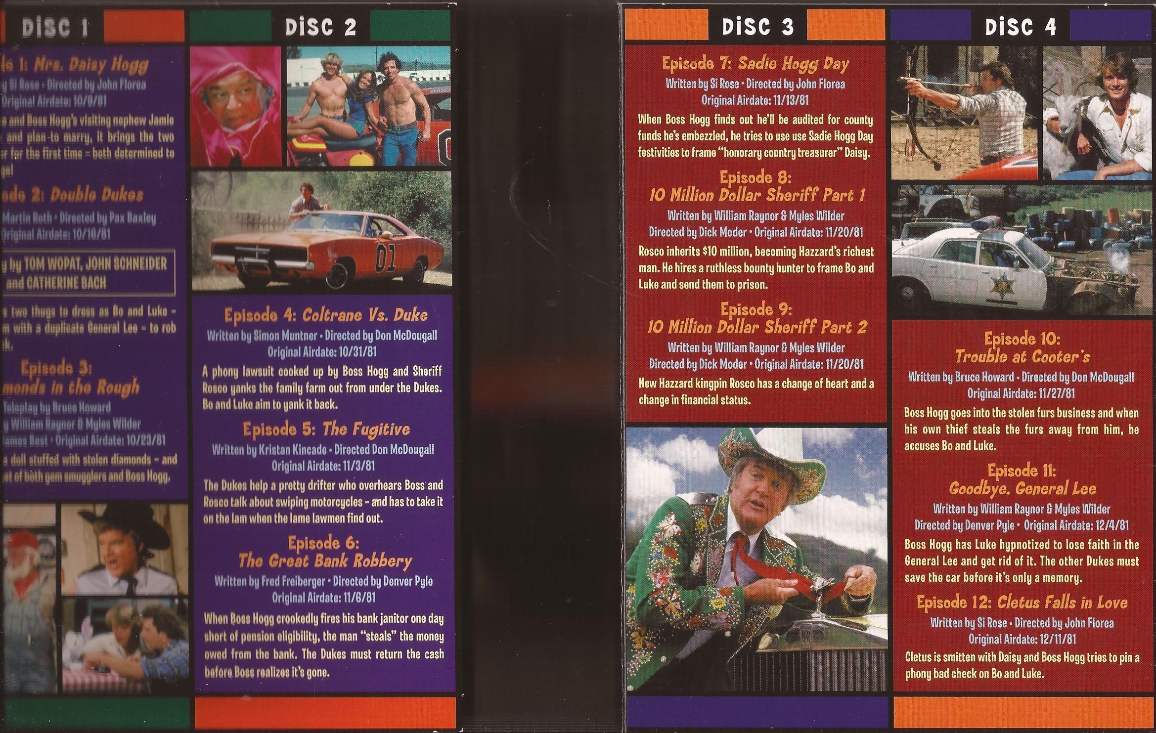 dukes of hazzard season 4 dvd