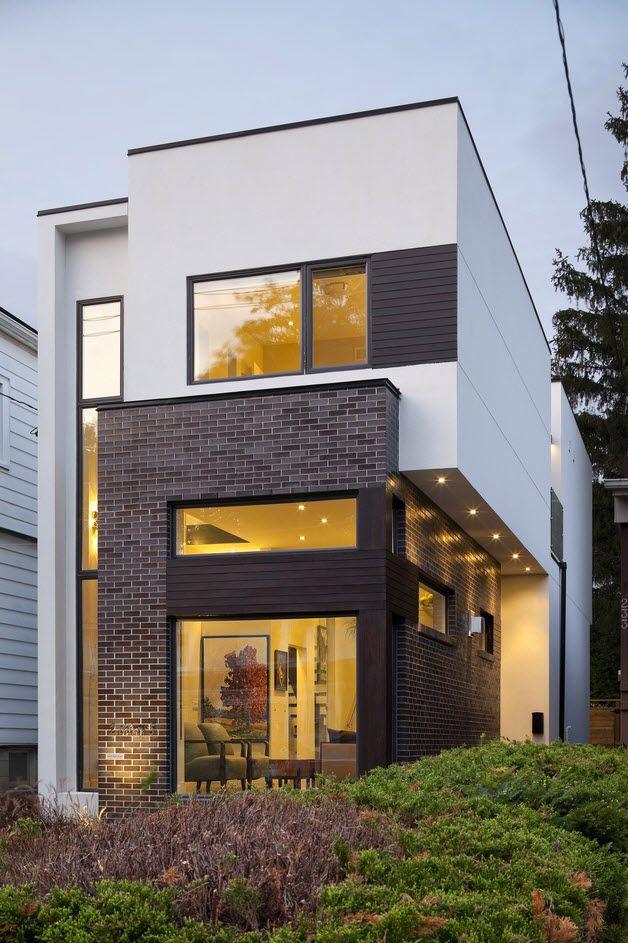 Planos de casa de dos pisos moderna construcci n en - Disenos interiores de casas ...