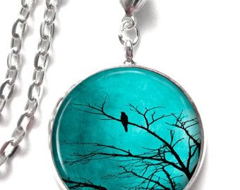 Picture pendant turquoise sky with black bird in tree art pendant r picture pendant turquoise sky with black bird in tree art pendant resin pendant photo pendant glass pendant 0050 mozeypictures Choice Image