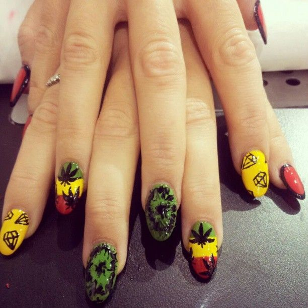 Jamaican Nail Designs | Great Nail Art Design | Pinterest | Jamaica ...