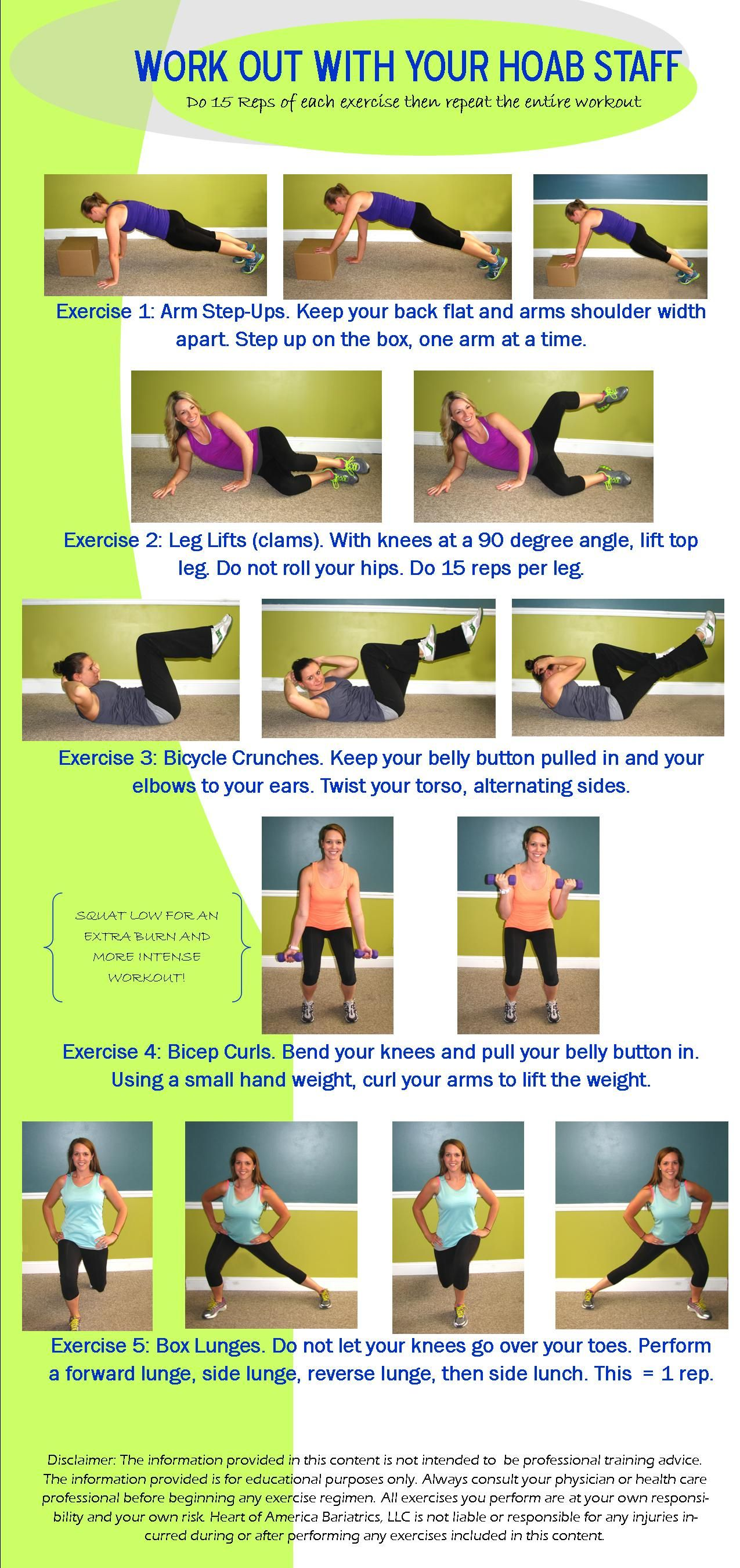 Workout With Your Hoab Staff Check Out This Quick At Home