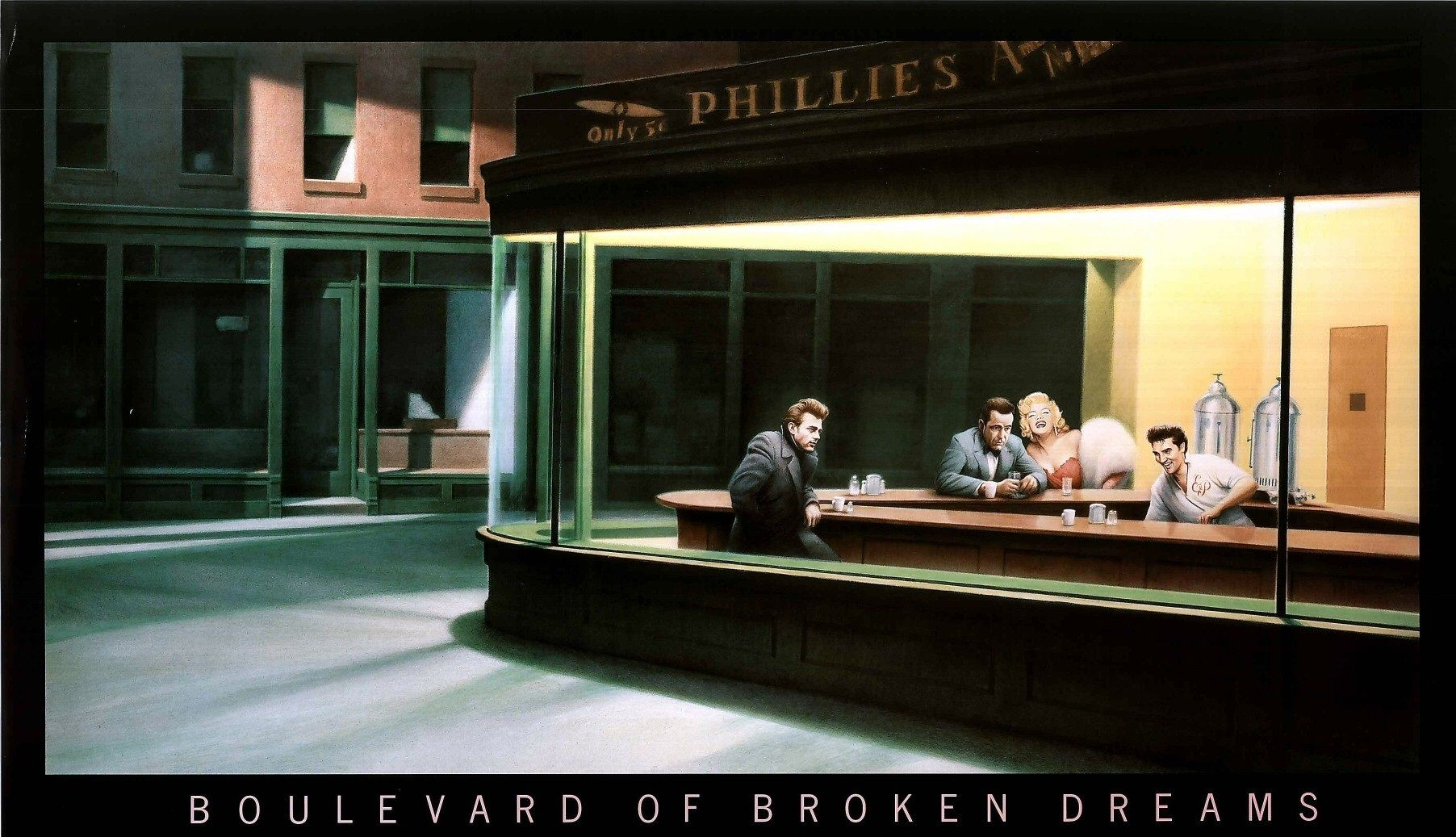 Boulevard Of Broken Dreams Photos Art Edward Hopper