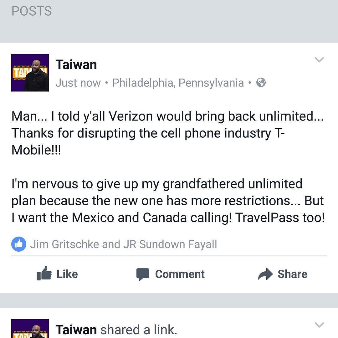 Man... I told y'all Verizon would bring back unlimited