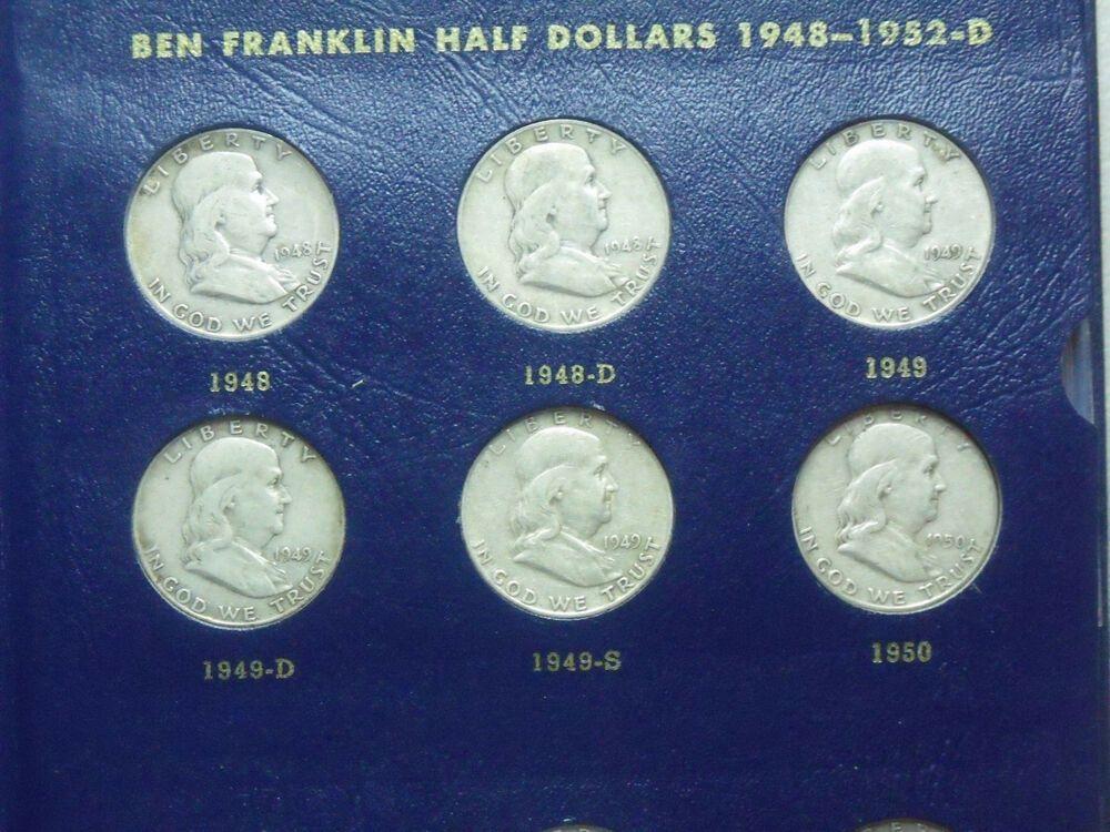 1948-1963 Silver Franklin Half Dollars Complete P-D-S set