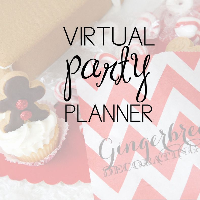 gingerbread party ideas virtual party planning services from