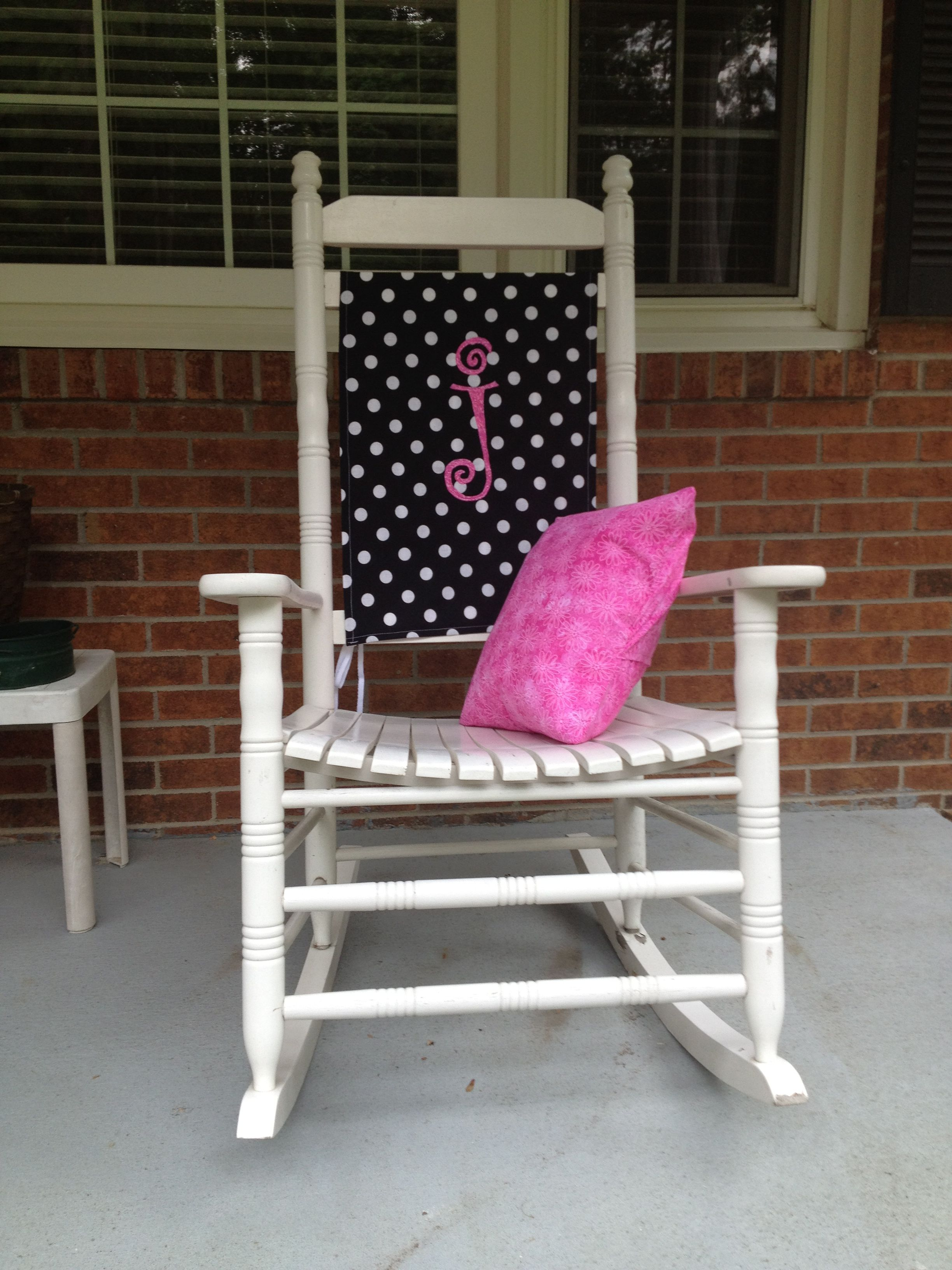personalized rocking chair cover and pillow. | my own wreaths