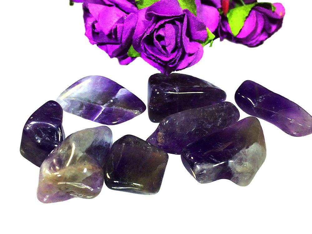 Amethyst Natural Stone 62 Ct Beautiful  8 Pcs