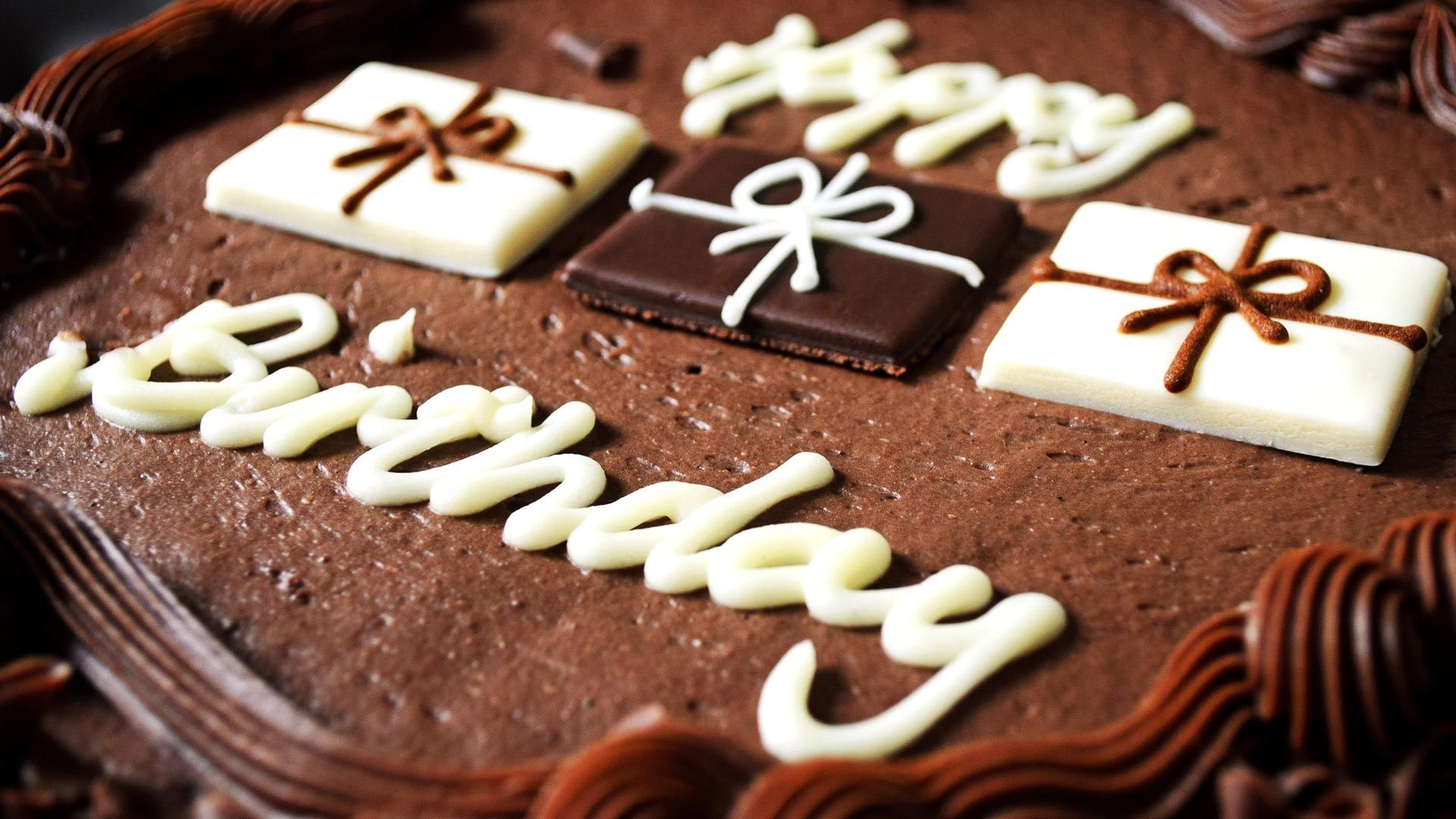 happy birthday chocolate cake wallpaper hd desktop | ololoshenka