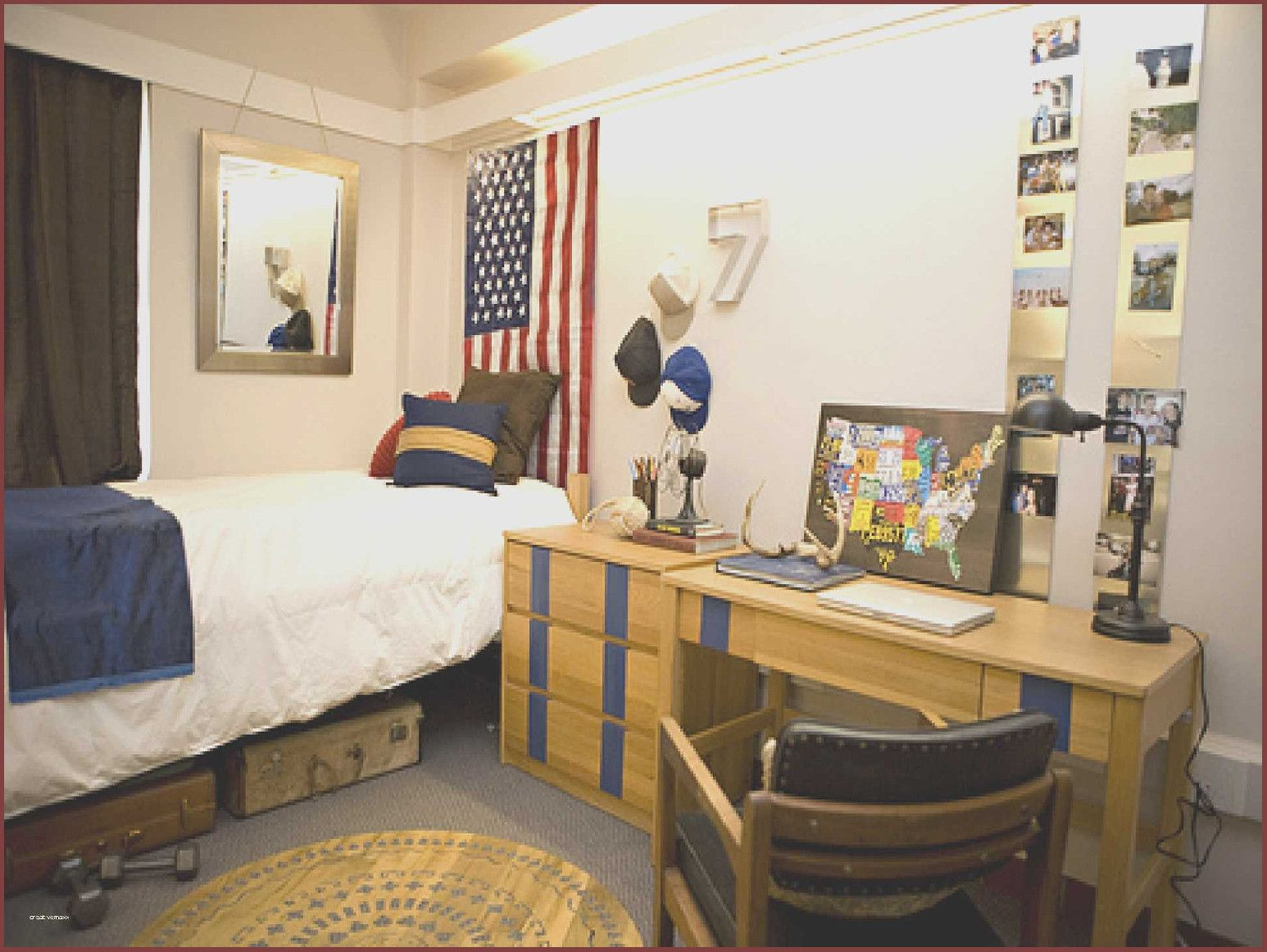College Apartment Men Boys Dorm Room