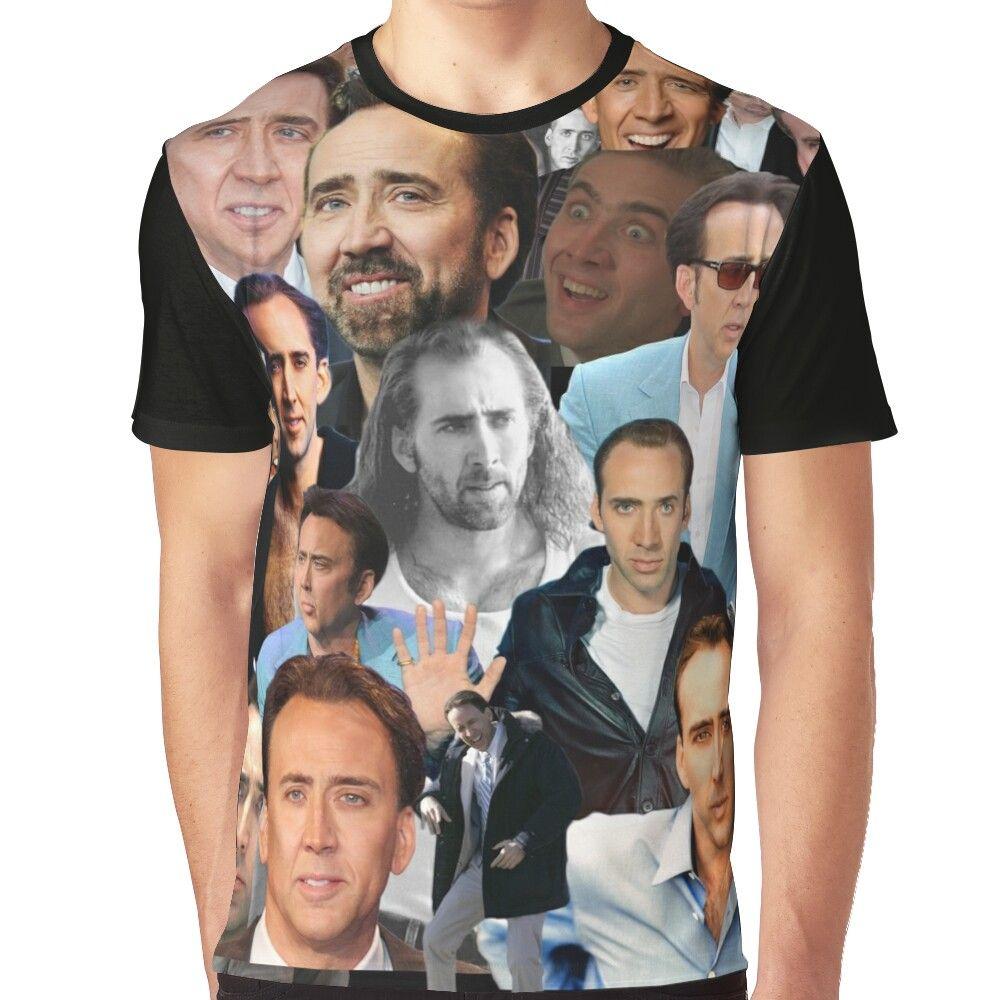 Nicolas Cage Overload Paparazzi Graphic T-Shirt