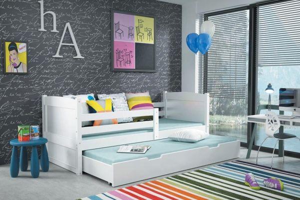funktionsbett oscar massivholz lackiert wei mit bettkasten kinderbett pinterest. Black Bedroom Furniture Sets. Home Design Ideas