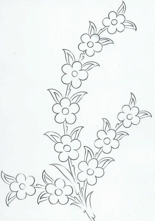 patrones para bordar … | sketsa sulam | Pinte…