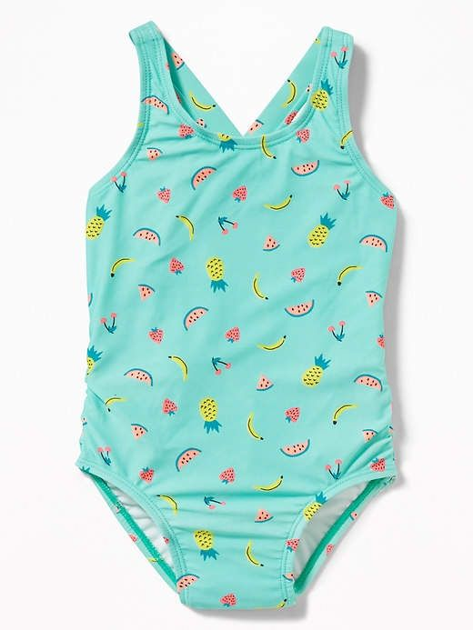 0d5230111e9 Old Navy Fruit-Print Ruffle-Back Swimsuit for Toddler Girls ...