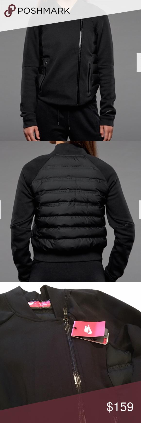 Nwt nike black aeroloft puffer and fleece jacket super cool nike