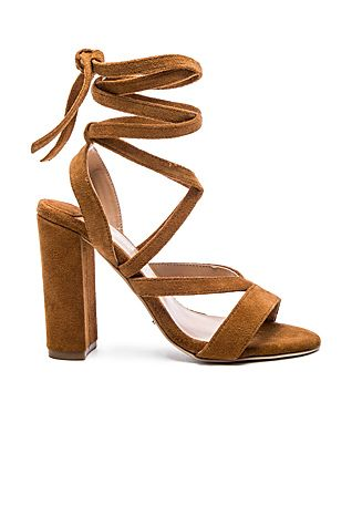 c7b60ca75290 Tony Bianco Kappa Lace Up Heel in Tan Velvet Suede