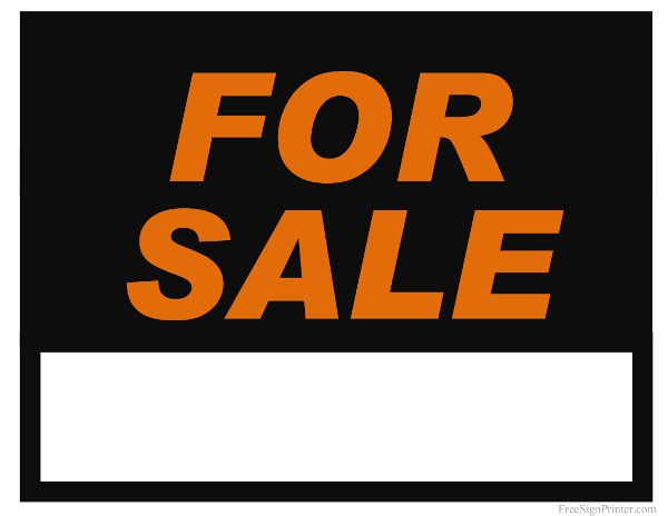 For Sale Sign For Sale Signs Pinterest Sale signs - free for sale signs for cars