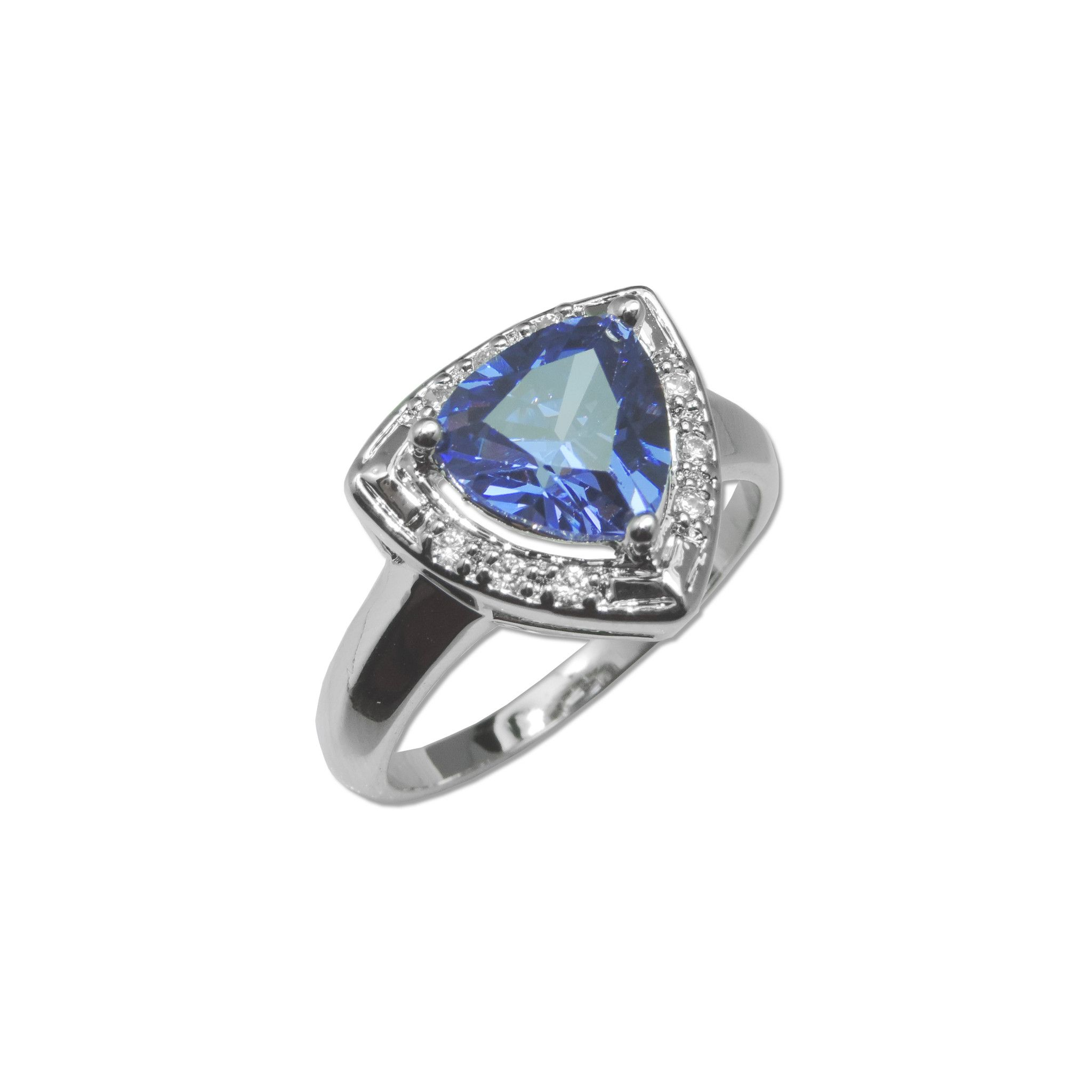 pin tanzanite diamond jewels gia trillion with halo ring certified
