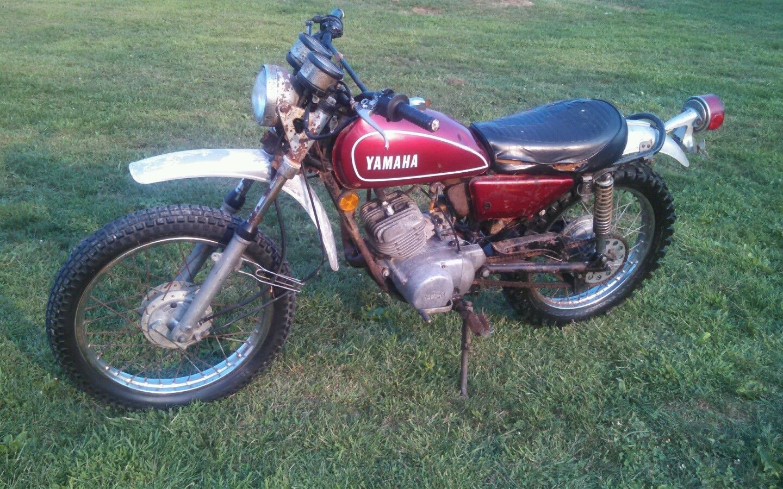 yamaha dt125a dt 125 enduro vintage motorcycle 1972 rare electric start model ebay [ 1440 x 900 Pixel ]