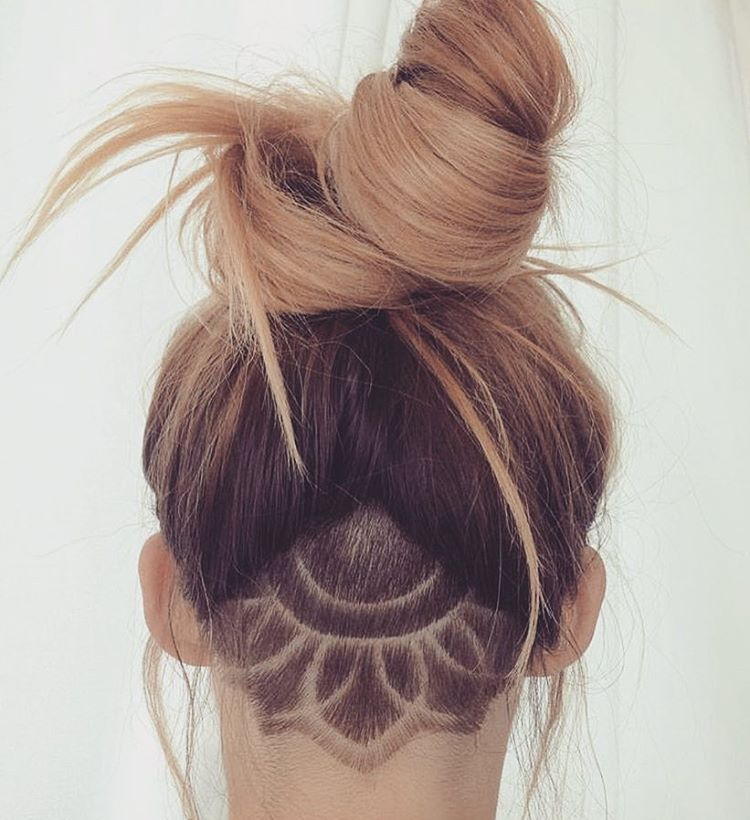 mandala undercut awesome hair