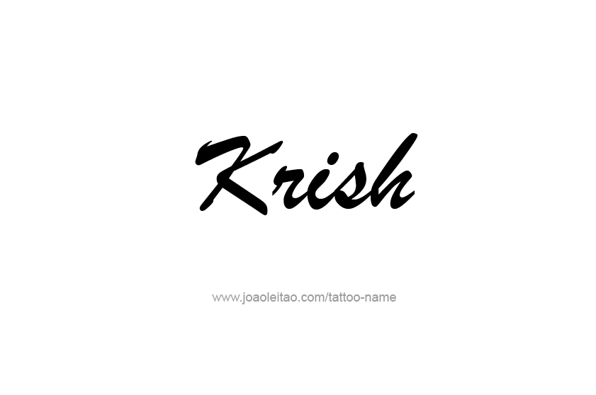 Krish Name Tattoo Design