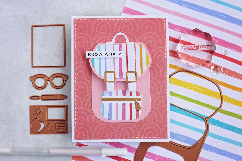 Cute little backpack cards spellbinders cards