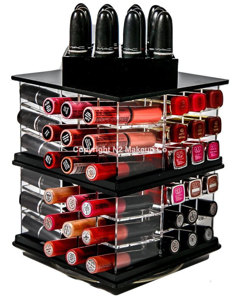 By N2 Makeup Co 8 Slot Acrylic Storage Case Box Solution Makeup Organizer Compact Powder Holder