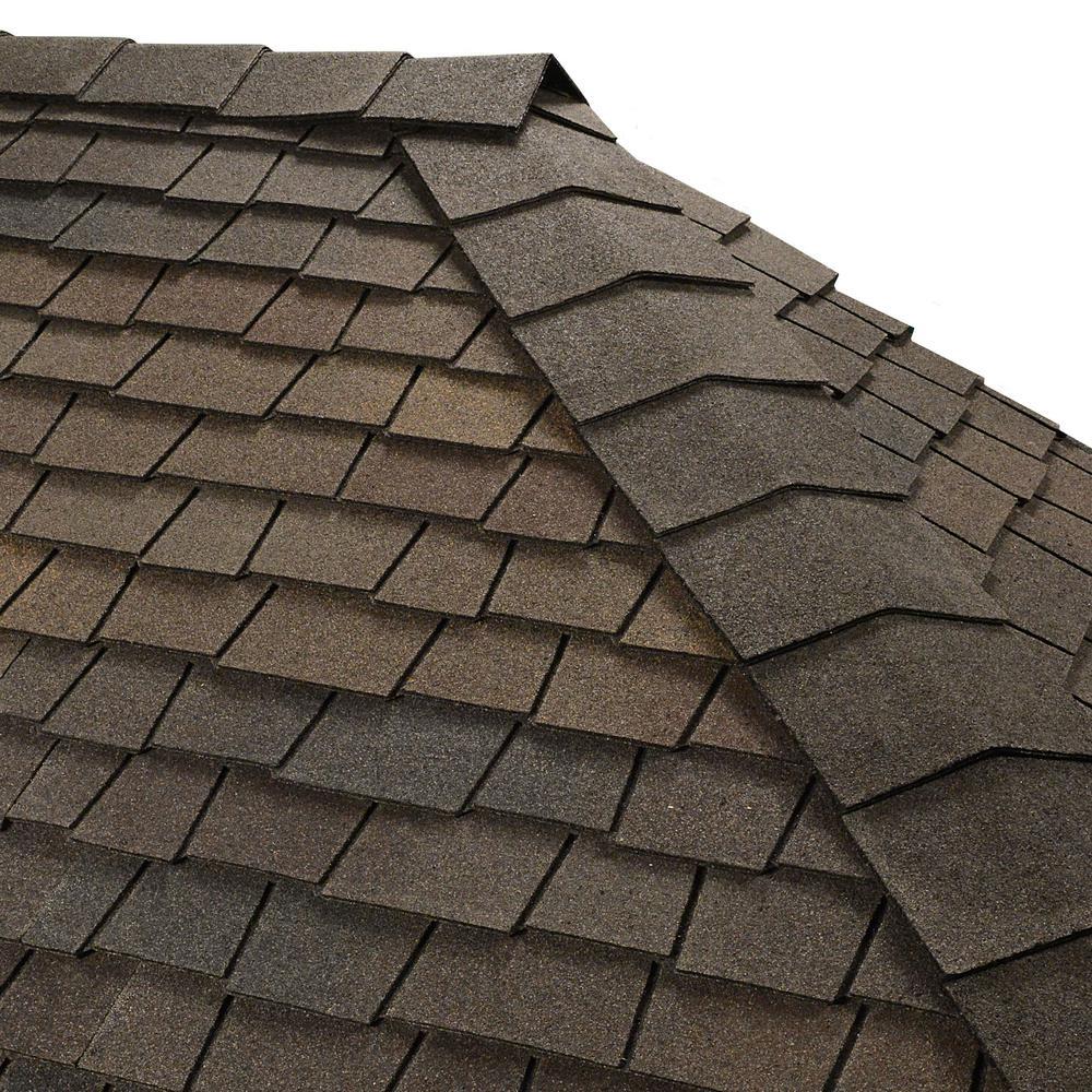 Gaf Timbertex Woodberry Brown Premium Hip And Ridge Shingles 20 Lin Ft Per Bundle 0847945 In 2020 Roof Shingle Colors Roof Shingles Shingling