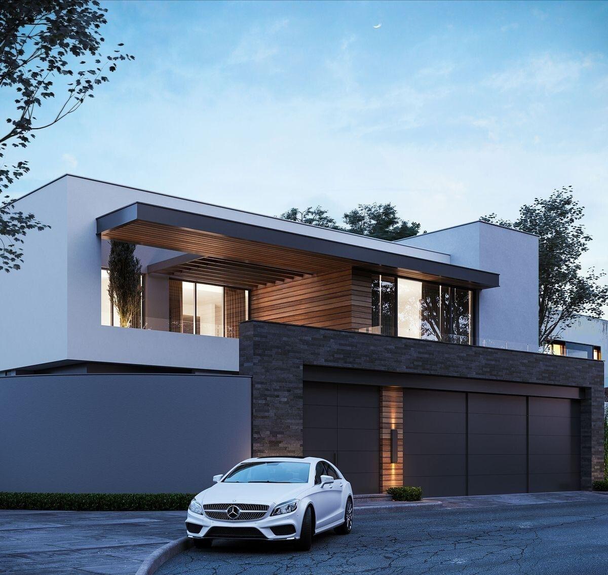 Pin de kenneth uy em the u house em 2019 fachadas de for Casa minimalista uy