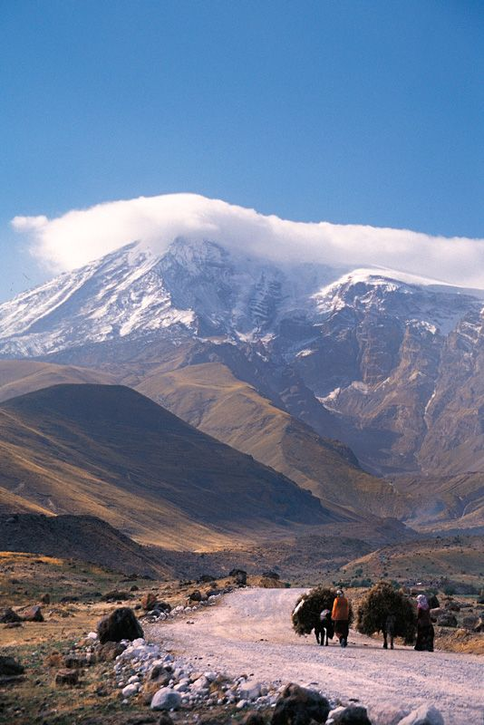 Mount Ararat - Turkey  - where Noah's ark landed according to the book of Genesis. Genesis 8:4