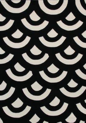 Bold Black And White Fish Scale Pattern Design Graphic
