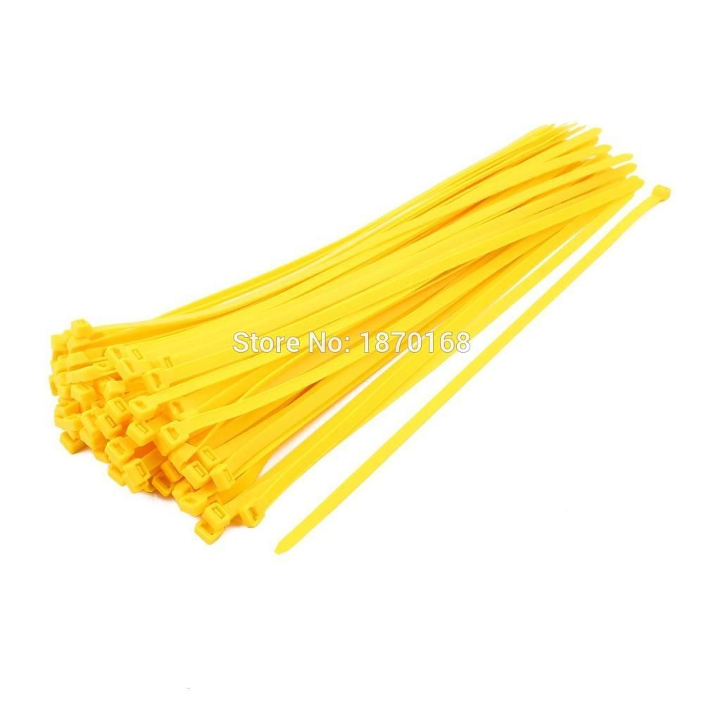 100pcs 8mmx400mm STAINLESS STEEL ZIP CABLE TIES self-locking cable ties