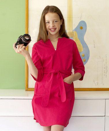 Another great find on #zulily! Pink Slavo 3/4-Sleeve Malone Dress - Girls & Women #zulilyfinds