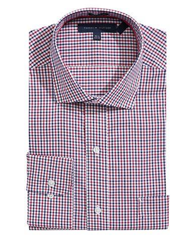 TOMMY HILFIGER Tommy HilfigerCheckered Regular-Fit Dress Shirt. #tommyhilfiger #cloth #
