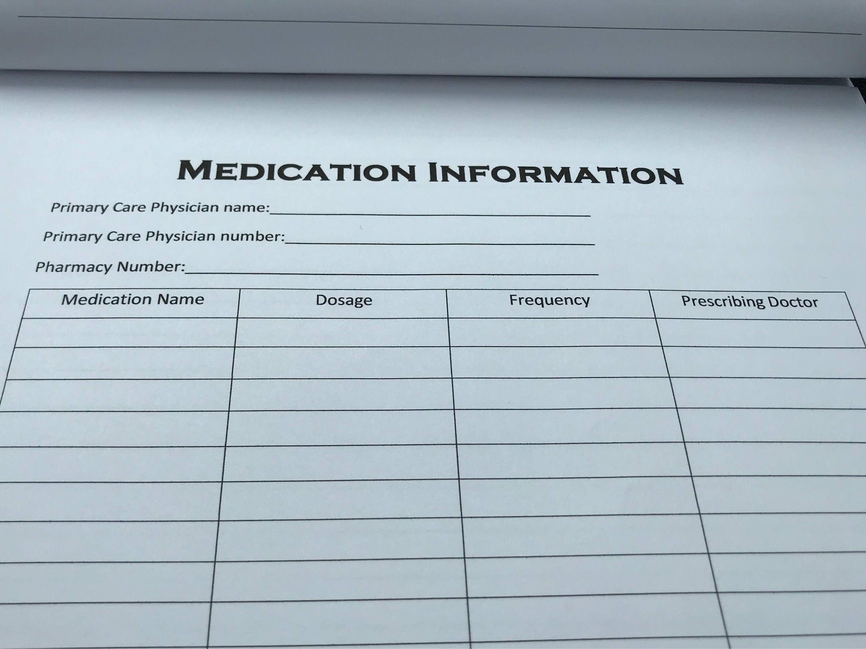 Medication Information Sheet