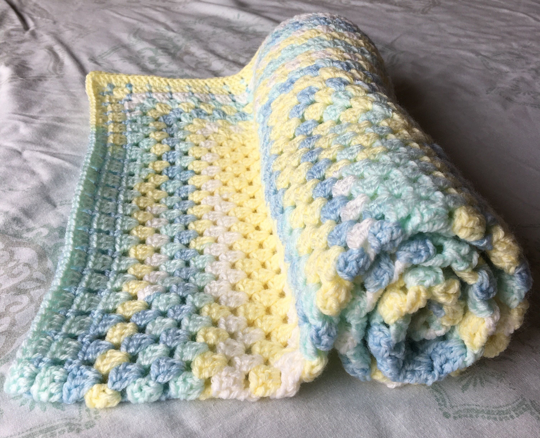Crochet Baby Blanket - supersoft - lightweight - cot blanket - crib ...