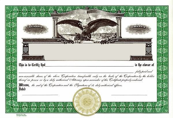 Stock Certificates Template - 40+ Free Stock Certificate Templates