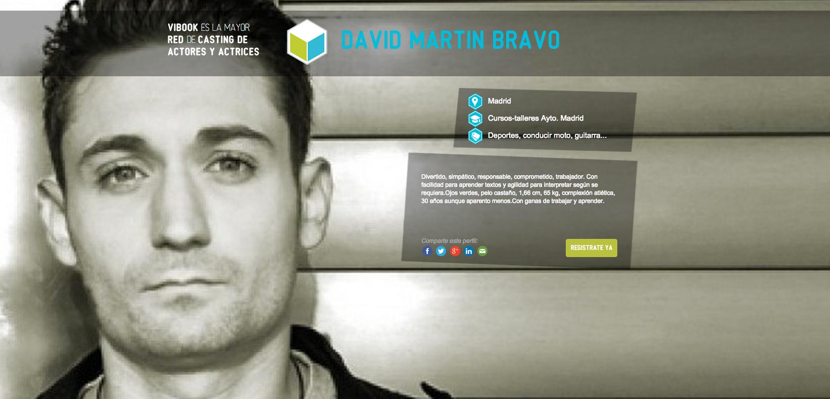 Actor DAVID MARTÍN BRAVO