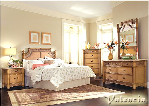 Valencia Rattan and Wicker Bedroom Group from Beachcraft 9015 ...