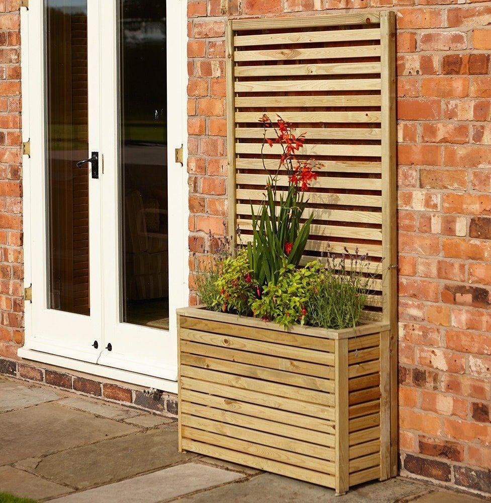 Rowlinson Garden Creations Tall Planter Tall Planters Wooden Garden Planters Planter Boxes