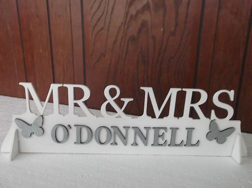 Mr & Mrs Top Table Wedding Wooden Decoration Sign
