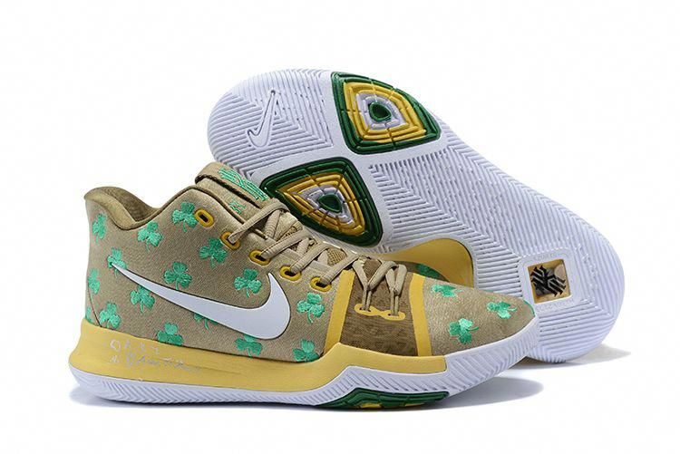 1147d45ac3bc Boston Celtics Nike Kyrie 3 Luck PE Men s Basketball Shoes  LogoBasketball