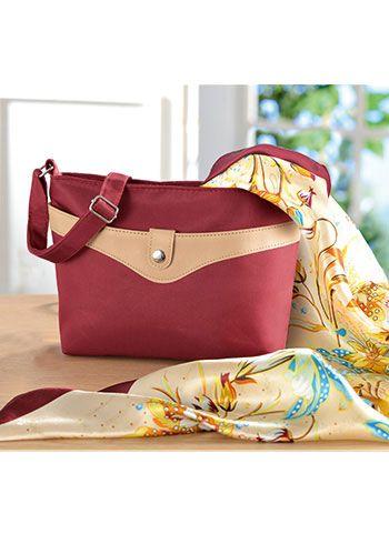"""Le sac à main et son grand foulard fleuri"""""""
