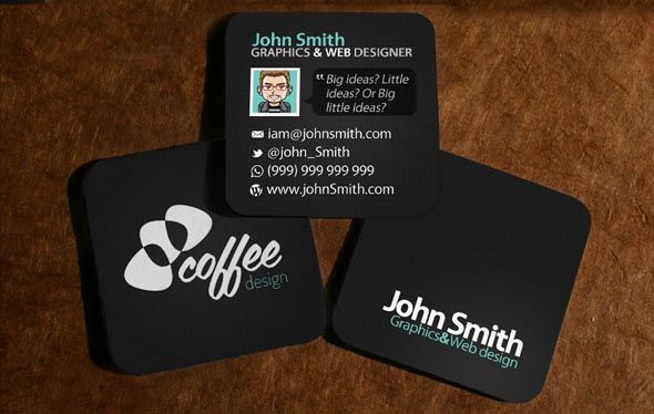 Square Business Cards 2 5 Square Business Cards Mini Business Card Business Cards Creative