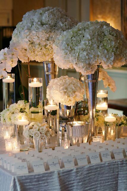 Large Vase Hydrangea Elegant And Extravagant Table Decor Part 48
