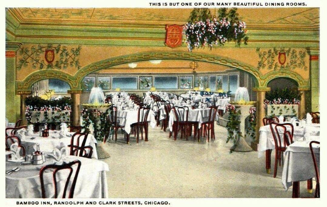 Postcard Chicago Bamboo Inn Restaurant Randolph And Clark